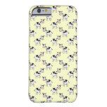 Modelo blanco y negro de la vaca en amarillo claro funda de iPhone 6 barely there