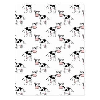 Modelo blanco y negro de la vaca postal