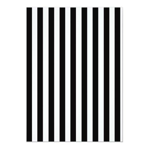 """Modelo blanco y negro de las rayas de la MOD Invitación 5"""" X 7"""""""