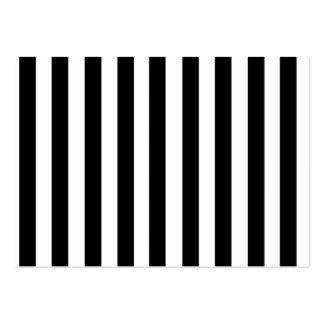 Modelo blanco y negro de las rayas de la MOD Tarjetas De Visita Grandes