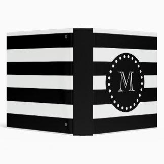 Modelo blanco y negro de las rayas monograma negr