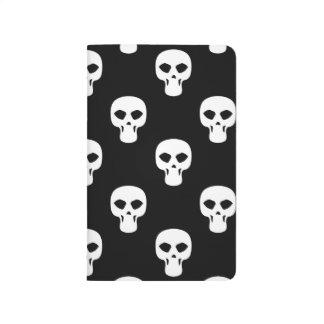 Modelo blanco y negro de los cráneos cuadernos