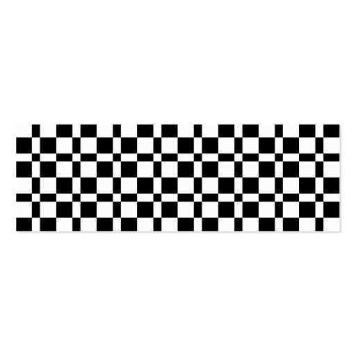 Modelo blanco y negro de los cuadrados tarjeta de visita