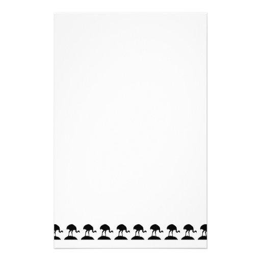 Modelo blanco y negro de los pájaros de Rhea Papelería De Diseño