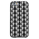 Modelo blanco y negro de los Seahorses Funda De iPhone 6 Tough