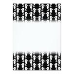 Modelo blanco y negro de los Seahorses Invitación 12,7 X 17,8 Cm