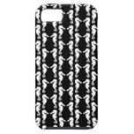 Modelo blanco y negro de los Seahorses iPhone 5 Fundas