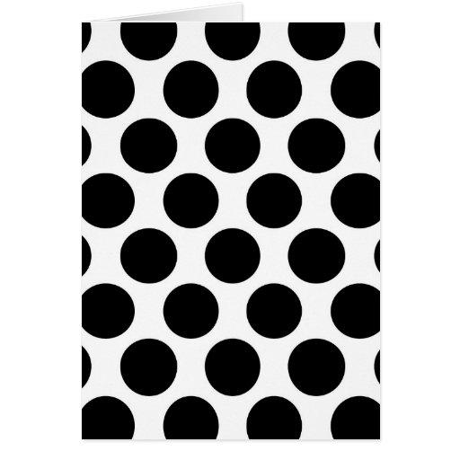 Modelo blanco y negro de Polkadot Tarjeta De Felicitación