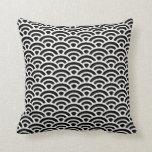 Modelo blanco y negro del art déco almohadas