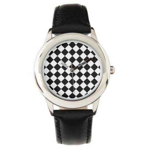 Modelo blanco y negro del control reloj de mano