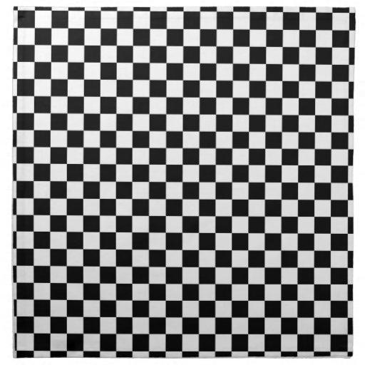 Modelo blanco y negro del control servilletas de papel