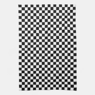Modelo blanco y negro del control toallas