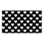 Modelo blanco y negro del corazón tarjeta personal