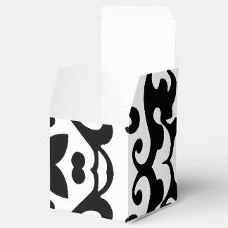 Modelo blanco y negro del damasco antiguo elegante caja para regalos de fiestas