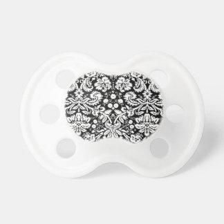 Modelo blanco y negro del damasco chupetes para bebés