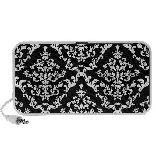 Modelo blanco y negro del damasco iPod altavoz