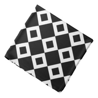 Modelo blanco y negro del diamante bandanas