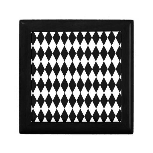 Modelo blanco y negro del diamante caja de regalo