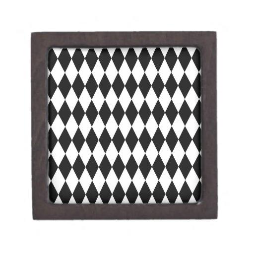 Modelo blanco y negro del diamante caja de regalo de calidad