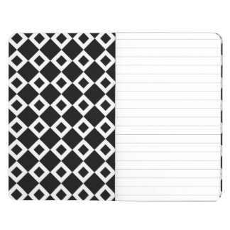 Modelo blanco y negro del diamante cuadernos grapados