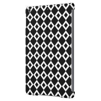 Modelo blanco y negro del diamante funda para iPad air