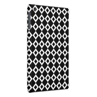 Modelo blanco y negro del diamante funda para iPad mini retina