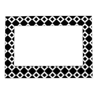 Modelo blanco y negro del diamante marcos magneticos de fotos