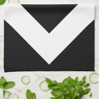 Modelo blanco y negro del diamante toallas de mano