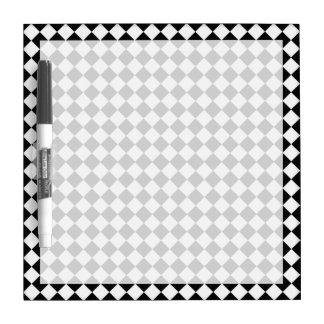 Modelo blanco y negro del diamante pizarras