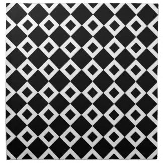Modelo blanco y negro del diamante servilletas