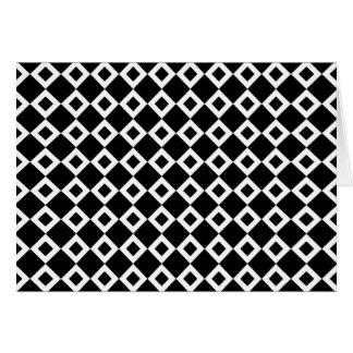 Modelo blanco y negro del diamante tarjeta de felicitación