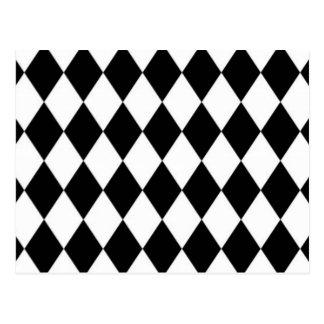 Modelo blanco y negro del diamante postal