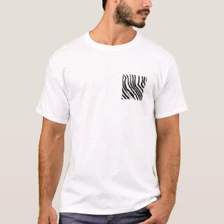 Modelo blanco y negro del estampado de zebra playera