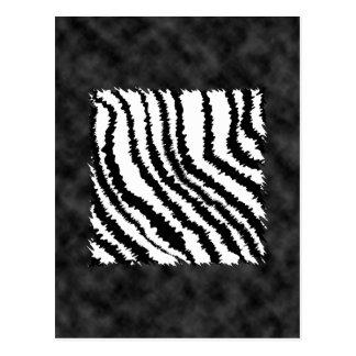 Modelo blanco y negro del estampado de zebra postal