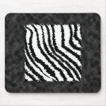 Modelo blanco y negro del estampado de zebra tapetes de raton