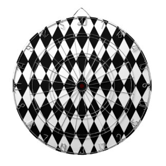 Modelo blanco y negro del Harlequin del diamante Tablero Dardos