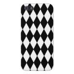 Modelo blanco y negro del Harlequin del diamante iPhone 5 Cárcasa