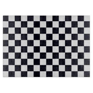 Modelo blanco y negro del inspector tablas para cortar