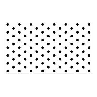 Modelo blanco y negro del lunar simple tarjeta de negocio