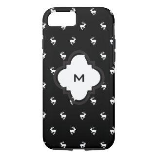 Modelo blanco y negro del macho funda iPhone 7