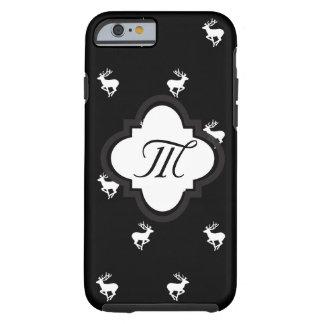 Modelo blanco y negro del macho funda resistente iPhone 6