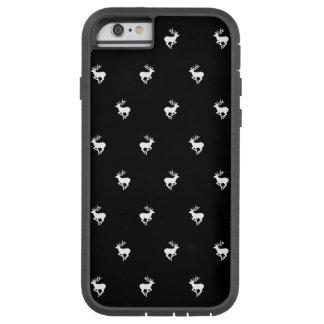 Modelo blanco y negro del macho funda tough xtreme iPhone 6