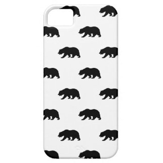 Modelo blanco y negro del oso grizzly iPhone 5 Case-Mate carcasa