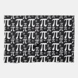 Modelo blanco y negro del pi toallas de mano