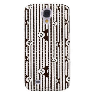 Modelo blanco y negro del Po Funda Para Galaxy S4
