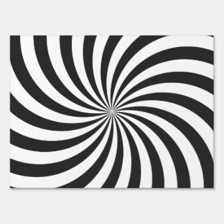 Modelo blanco y negro del remolino cartel