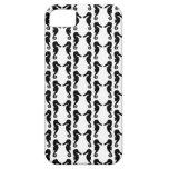 Modelo blanco y negro del Seahorse iPhone 5 Case-Mate Carcasa