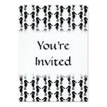 Modelo blanco y negro del Seahorse Invitación 12,7 X 17,8 Cm