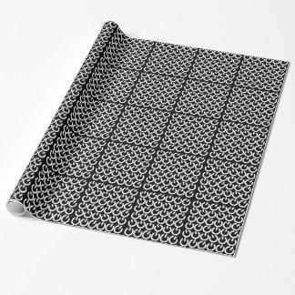 Modelo blanco y negro del símbolo del poder papel de regalo