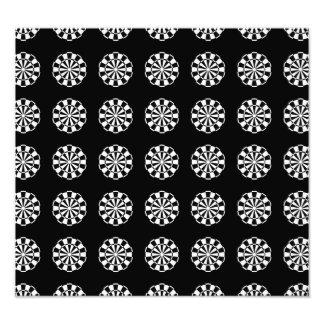 Modelo blanco y negro del tablero de dardo fotografía
